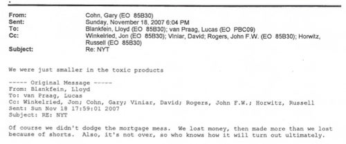 Here Are Emails Where Goldman Sachs Was Happy While Everyone Else Was Sad