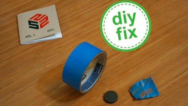 Use Painters Tape and a Strong Magnet as a Cheap, DIY Stud Finder
