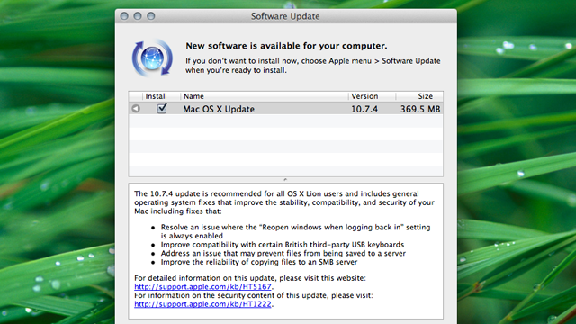 Mac OS 10.7.4 Update Is Out; Fixes Bugs with Resume, the Finder, and More