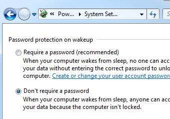 Make Windows Stop Asking for a Password When It Wakes Up