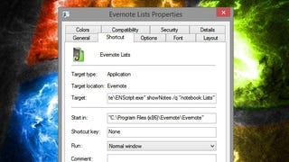 Create Desktop Shortcuts to Your Favorite Evernote Notes and Tags