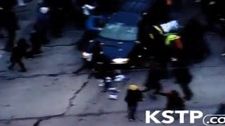 Shocking Video Shows Driver Plow Through Minneapolis Protest