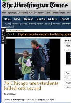 Washington Times Explains Obama Girls Photo Flap