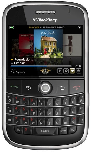 Slacker Internet Radio Comes to BlackBerry for Lazy-Ass Music Lovers