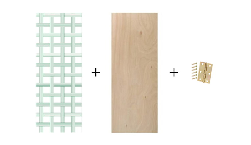 Make your own folding privacy screen with a few interior for Hideaway screen doors home depot