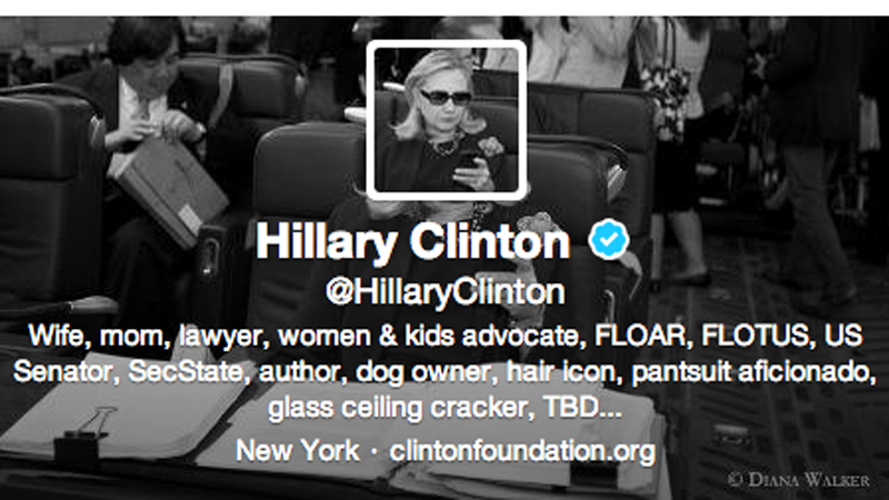 HRC's New Twitter Account Sure Is Cute, Even If Her Ratings Are Down