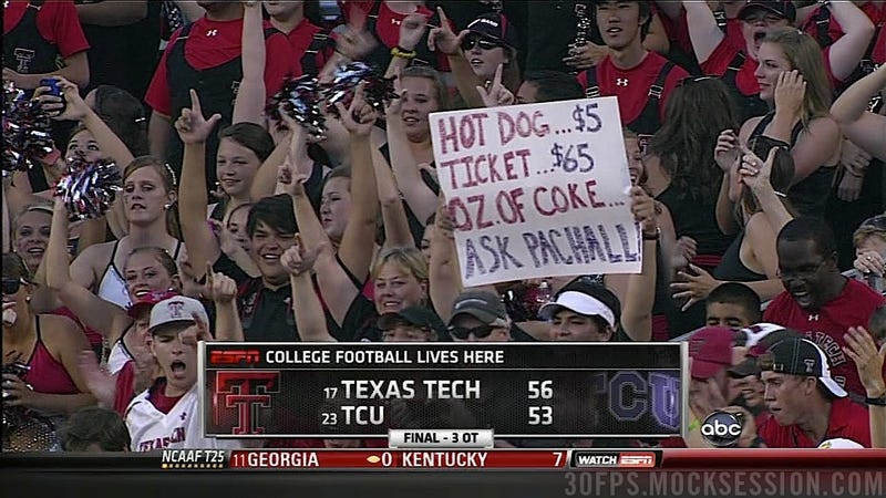 "Texas Tech Fan's ""Casey Pachall Did Cocaine"" Reference Is Priceless"