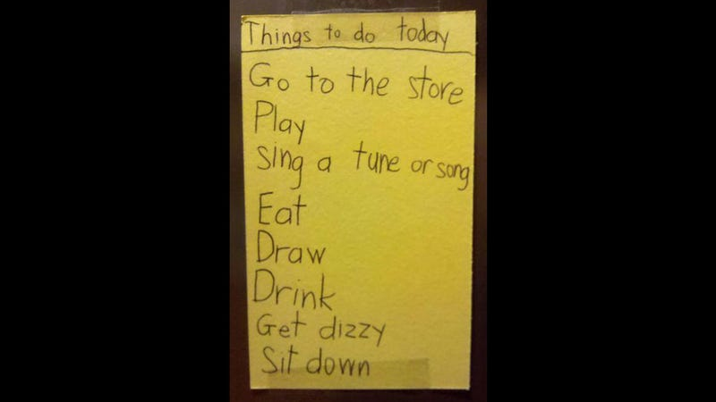 Kid's Adorable To-Do List Will Put Yours to Shame