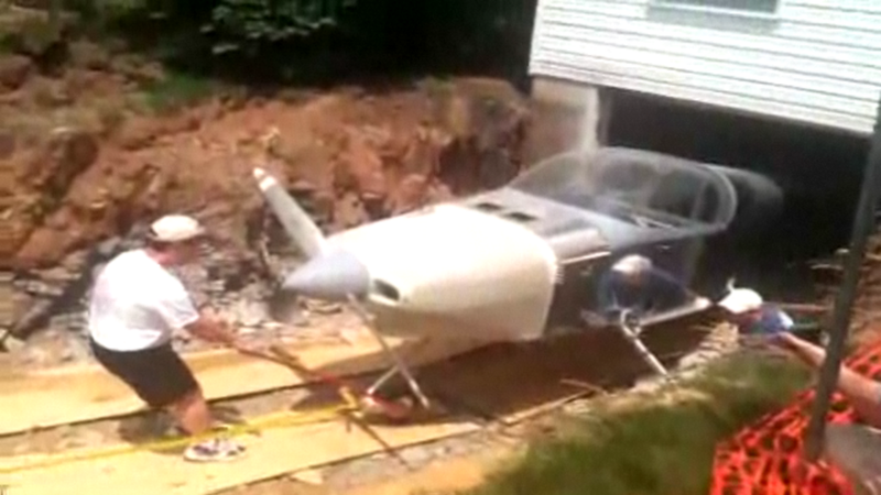 Man Has to Knock Down Wall to Get Plane Out of His House