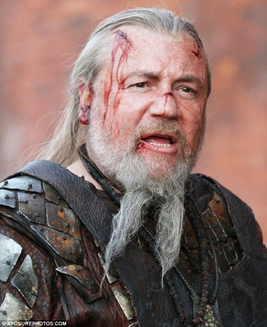 Ray Winstone on Noah Set