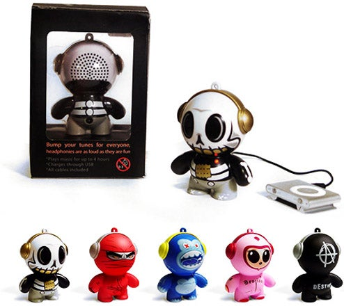 Headphonies: 3-Inch Vinyl Figures Make Unique Portable Speakers