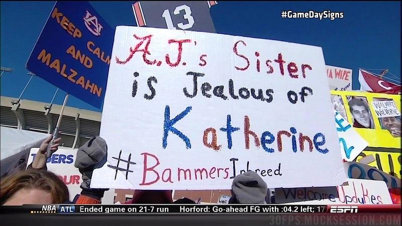 Gaybashing Abounds: Your Alabama-Auburn GameDay Sign Roundup