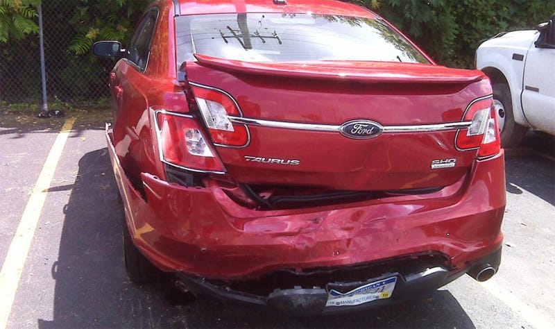 First Smashed-Up 2010 Ford Taurus SHO In Chi-Town