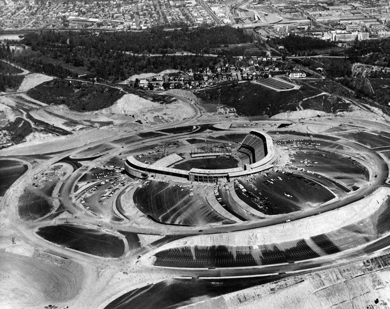 How 19 Giant Earthmovers Carved Dodger Stadium Out of a Mountain