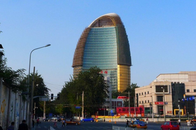 Chinese Newspaper's HQ Now Looks Like a Golden Penis