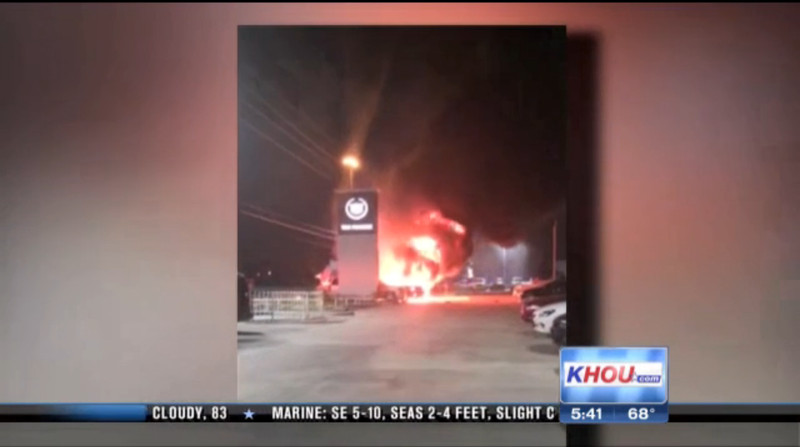 Cadillac Escalades Burn In $1 Million Houston Dealership Fire