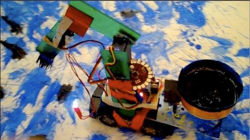 Jackson Pollock's Soul Trapped Inside a Robot
