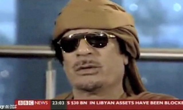 Mummar Gadaffi Channels Charlie Sheen During BBC Interview