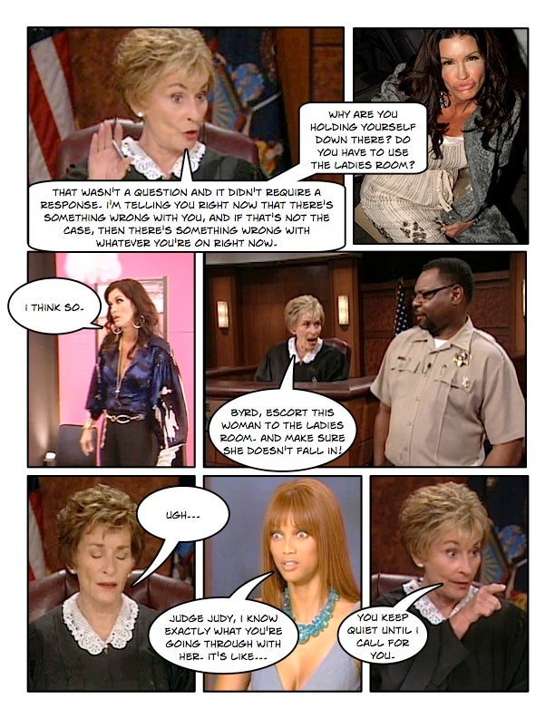 Comic Confrontations: Judge Judy Vs. Janice Dickinson
