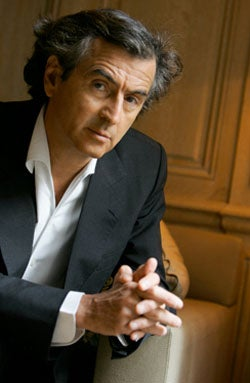 French Philosophe Bernard-Henri Levy Was Born Dressed in a Black Suit