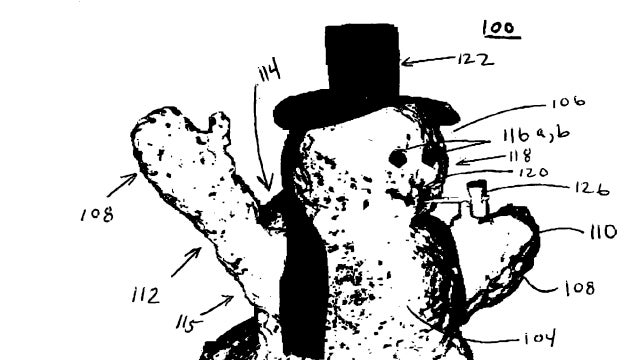 This patent for a snowman's skeleton is the oddest thing you'll read all day