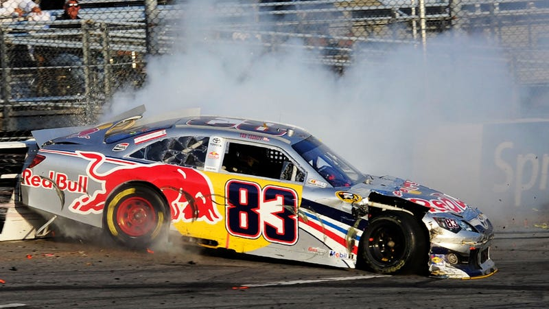 Watch an angry Nascar driver crash five times in one race