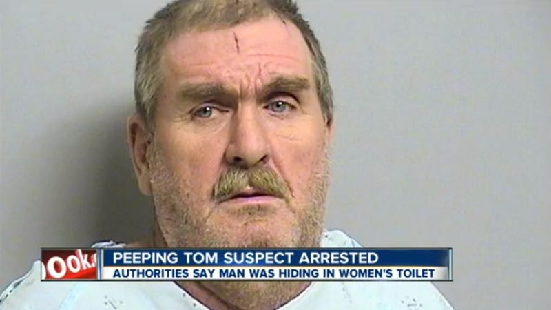 Shit-Covered Man Caught Peeping On Women from Inside Restroom Toilet