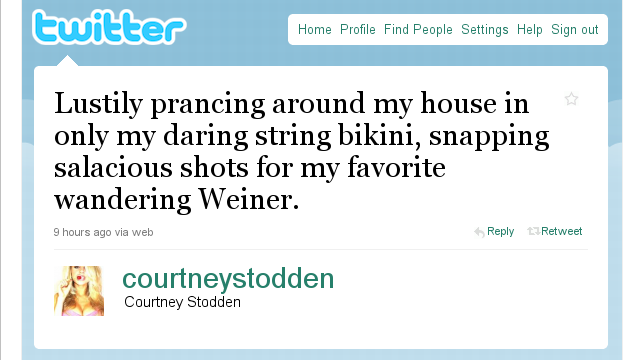 Fake Courtney Stodden Tweets The Year In News