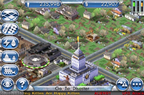 SimCity Now Reticulating Your iPhone's Spline