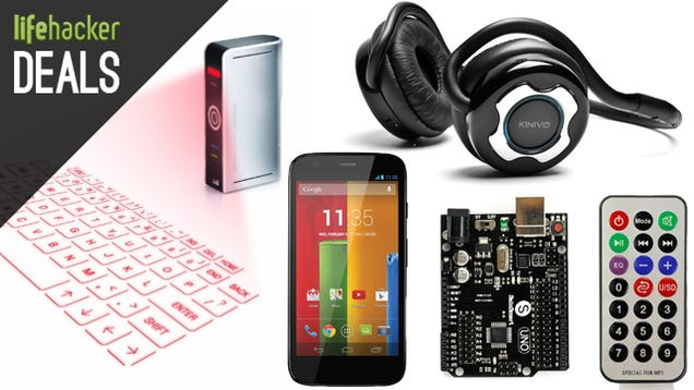 $70 Moto G Off-Contract, Arduino Starter Pack, Futuristic Keyboard