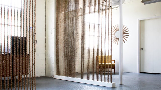 Keep Your Place Partitioned but Airy with Stretched-Rope Room Dividers