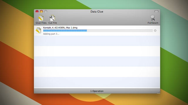 Data Glue is a Simple FIle Joiner and Splitter for Mac OS X