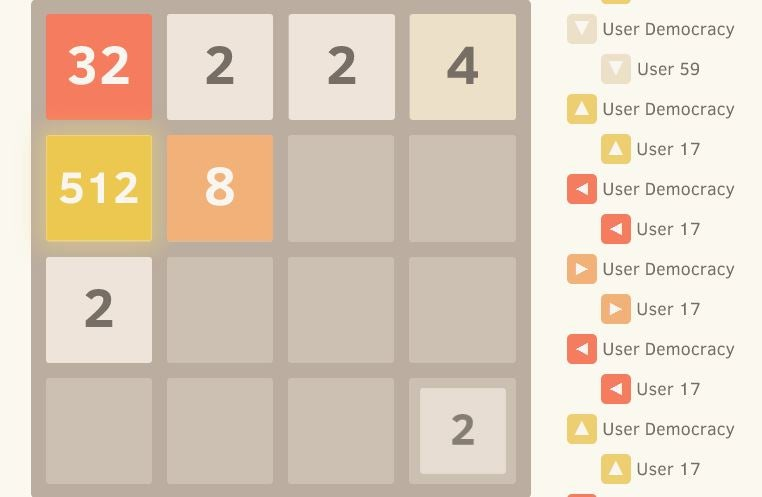 2048 Is Harder When You Play It With Other People