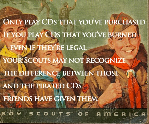 How Do You Teach Boy Scouts About Downloading Music? By Pretending It Doesn't Exist