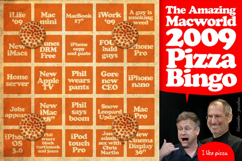Giz Liveblog Pizza Bingo: Follow the Keynote Here, Win Free Pizza