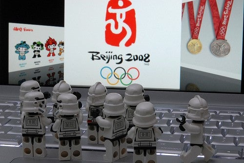 Imperial Sportstroopers Invade the Beijing Olympics