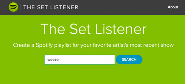 This Spotify Tool Makes a Playlist From Your Favorite Band's Last Show