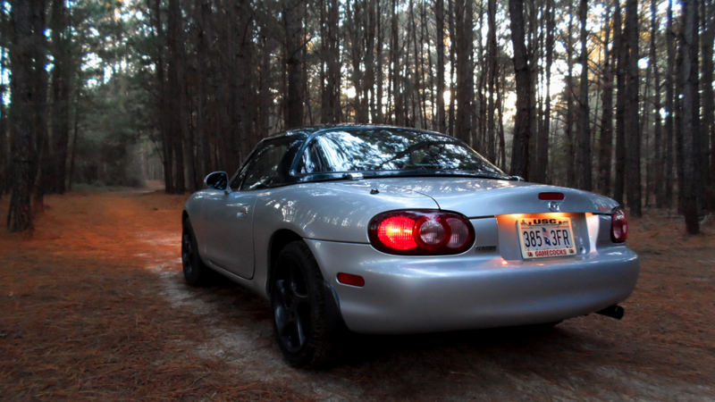 Took the Miata into the forest for some pictures