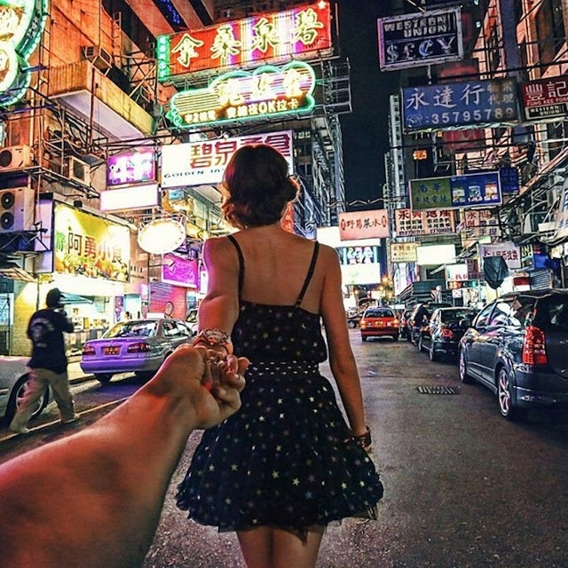 Incredible Travel Photos Taken from the Perspective of a Guy Being Led Around the World by His Girlfriend