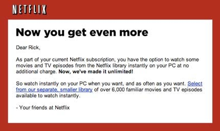 Netflix Offers Unlimited Online Viewing to Customers: Full Rollout On the Horizon?