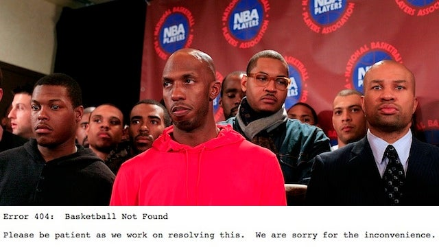 "The Website For NBA Players Association Now Reads ""Error 404: Basketball Not Found"""