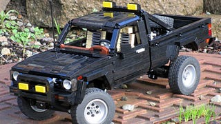 This Lego Toyota pickup is better than Marty McFly's
