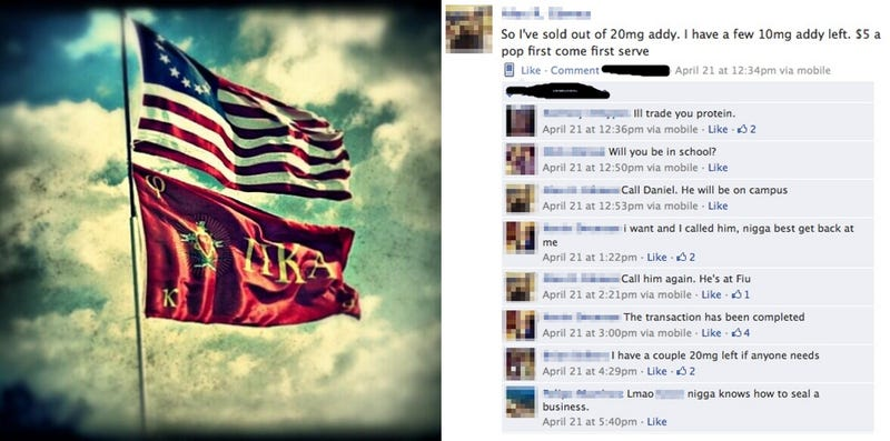 Florida Frat Used Facebook to Deal Drugs, Post Non-Consensual Nude Pics