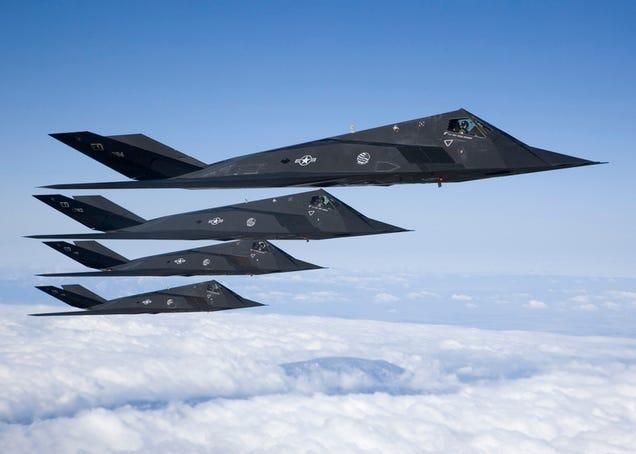 As non-American stealth F 117 Nighthawk