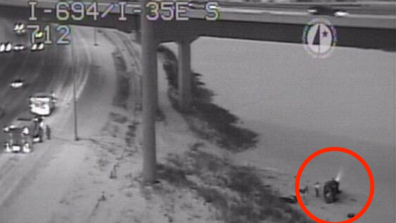 A Pickup Driver Walked Away After Driving Off An Overpass Into A Lake