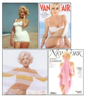 Cover Homage To Marilyn Monroe; Lindsay Lohan's Done It Before
