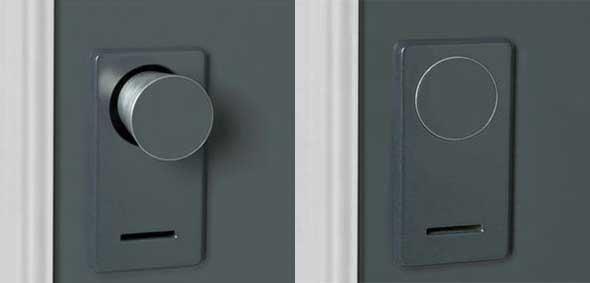 Retractable Doorknobs Provide Turtle-like Security