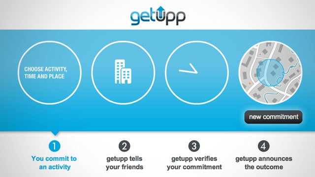 Getupp Helps You Stick to Your Goals by Notifying Your Friends If You Fail