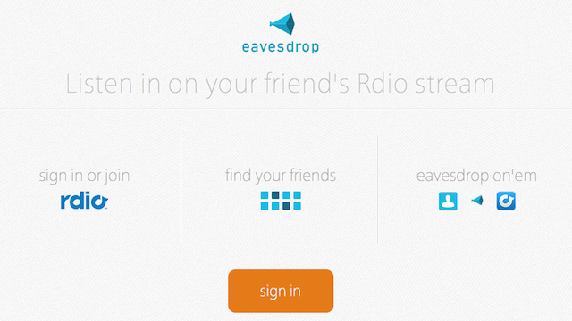 Eavesdrop for Rdio Lets You Listen In on Your Friends' Music Streams