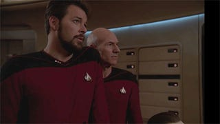 Picard vamps, Worf sings, and Riker makes out with the camera in this Next Generation blooper reel
